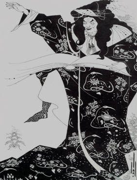 Bawdy Language book, illustration by Aubrey Beardsley