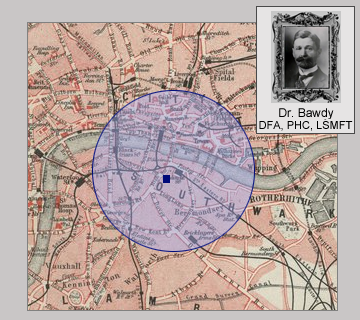 Dr. Bawdy map area