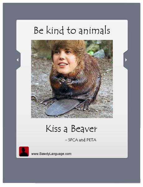 kiss Justin Bieber